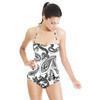Mix Dots Paisley Butterfly Print. Paisley 3DDS05. (Swimsuit)