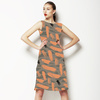 Caraway Ink Abstract Leaves (Dress)