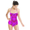 Spanish Guitar - Latin Tile Stylzed Pattern. (Swimsuit)