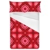 Red Floral Pink Repeated Pattern (Bed)
