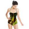 Green Feather Design (Swimsuit)