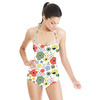 Nostalgic Retro Floral Garden (Swimsuit)