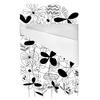 Black & White Flower Meadow (Bed)