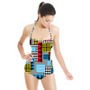 Geometric Print Pattern0001 (Swimsuit)