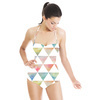 Ethnic Watercolor Triangles Pattern (Swimsuit)