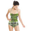 Green Zigzags (Swimsuit)