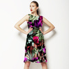 Black Background Flowers (Dress)