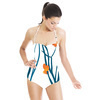 Blue Gras and Orange Dots (Swimsuit)