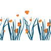 Blue Gras and Orange Dots (Original)