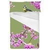 Digital Blossom Bird Print (Bed)