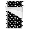 Fun Black and White Horses and Stars (Bed)