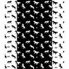 Fun Black and White Horses and Stars (Original)