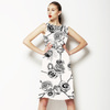 Hand Drawn Black and White Roses (Dress)