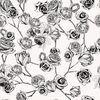 Hand Drawn Black and White Roses (Original)