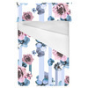 Pink and Blue Stripe Floral (Bed)