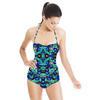 Blue Watercolour Floral (Swimsuit)
