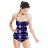 Blue Abstract Pattern (Swimsuit)