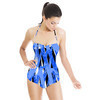 Textured Striped Geometric (Swimsuit)