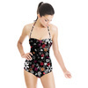 Dark Floral Tangle (Swimsuit)