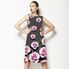 Pink Roses on Grey Background (Dress)