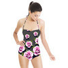 Pink Roses on Grey Background (Swimsuit)