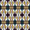 Organic Yellow Bat Wings Floral Wallpaper Style Design (Original)