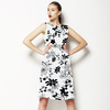 Black and White Floral (Dress)