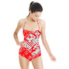 Red Ikat (Swimsuit)