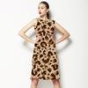 Neutral Leopard Repeat Pattern (Dress)