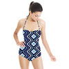 Indigo Diamond Chevron (Swimsuit)