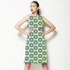 Green Graphic Flowers (Dress)