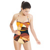 Abstract Retro Pattern (Swimsuit)