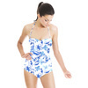 Blue and White Floral (Swimsuit)
