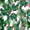 Multicolor Jungle Leaves (Original)