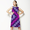 Purple Ethnic Pattern (Dress)