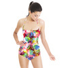 Seamless Abstract Colorfull Inspired Handmade Floral Textile (Swimsuit)