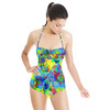 Seamless Irregular Camuflage Checks Abstrac Textile (Swimsuit)