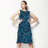 Florientals 1: Tonal Linocut Carnations Allover (Dress)