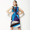 Blue Texture Geometric Pattern (Dress)