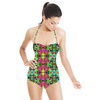 Tropical Colors and Ethnic Pattern 1 (Swimsuit)