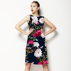 Vintage Roses on Darkblue Background (Dress)