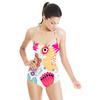 Expressive Bloom Organic Loosely Drawn Flowers Floral Bohemian (Swimsuit)