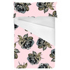 Pale Pink & Grey Rose Geo Pop Print Repeat (Bed)