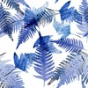 Blue Palm Leaves. Abstract (Original)