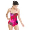 Hot Pink Tropical Drawn Style Floral Blooms (Swimsuit)