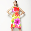 Multicolor Floral Pattern Hand-Painte (Dress)