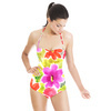 Multicolor Floral Pattern Hand-Painte (Swimsuit)
