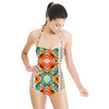 Tropical Leaves and Flowers With Ethnic,tribal Border (Swimsuit)