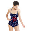 Geometric Floral (Swimsuit)