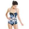 Abstract Scratches Grass Nature Cold Pattern (Swimsuit)